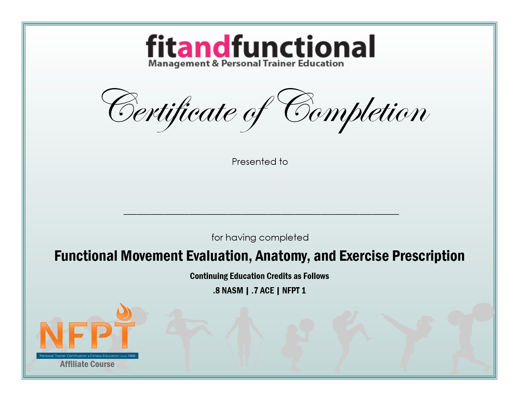 Functional Movement Evaluation, Anatomy, and Exercise Prescription ...